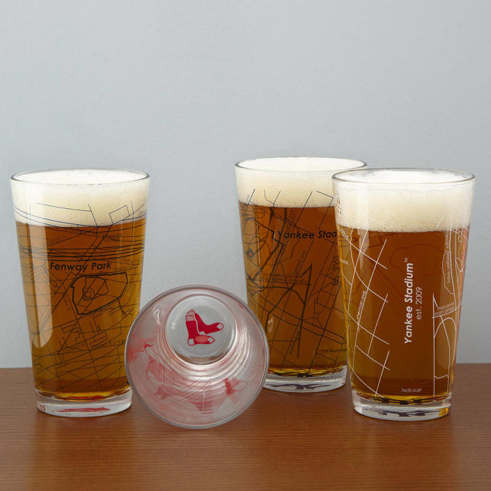 UncommonGoods Baseball Park Map Pint Glasses