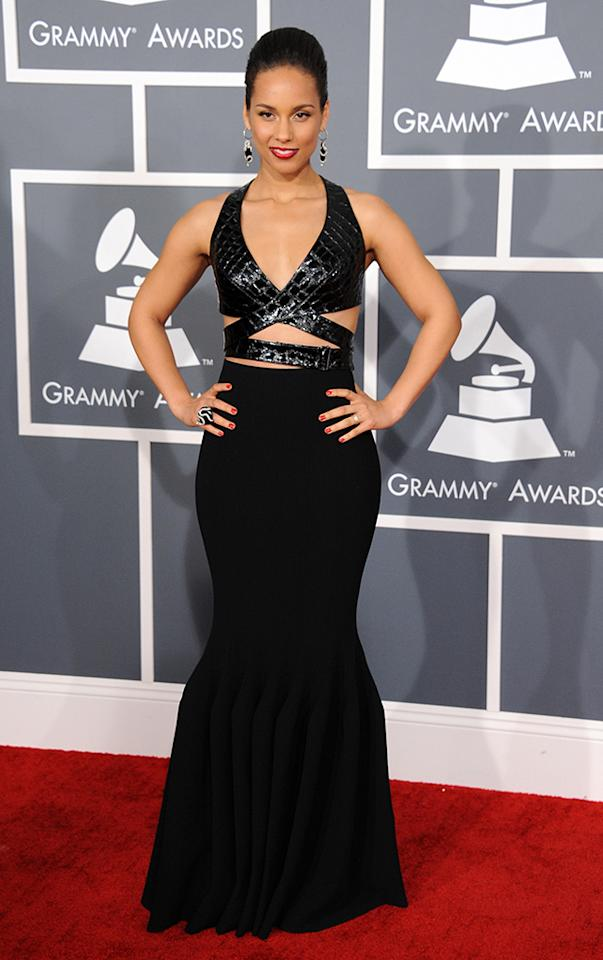 Alicia Keys arrive at the 55th Annual Grammy Awards at the Staples Center in Los Angeles, CA on February 10, 2013.