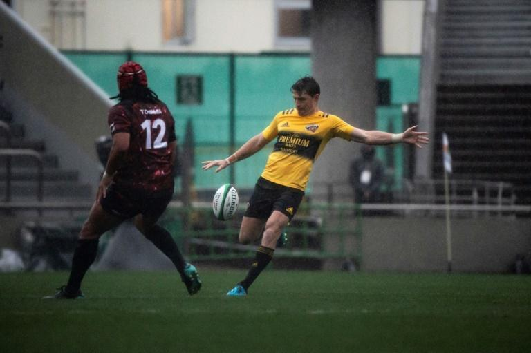 Beauden Barrett first game in Tokyo for Suntory Sungoliath was abandoned because of a lightning storm