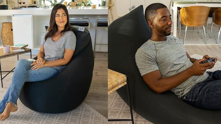 Bean bag comfort with real chair shape