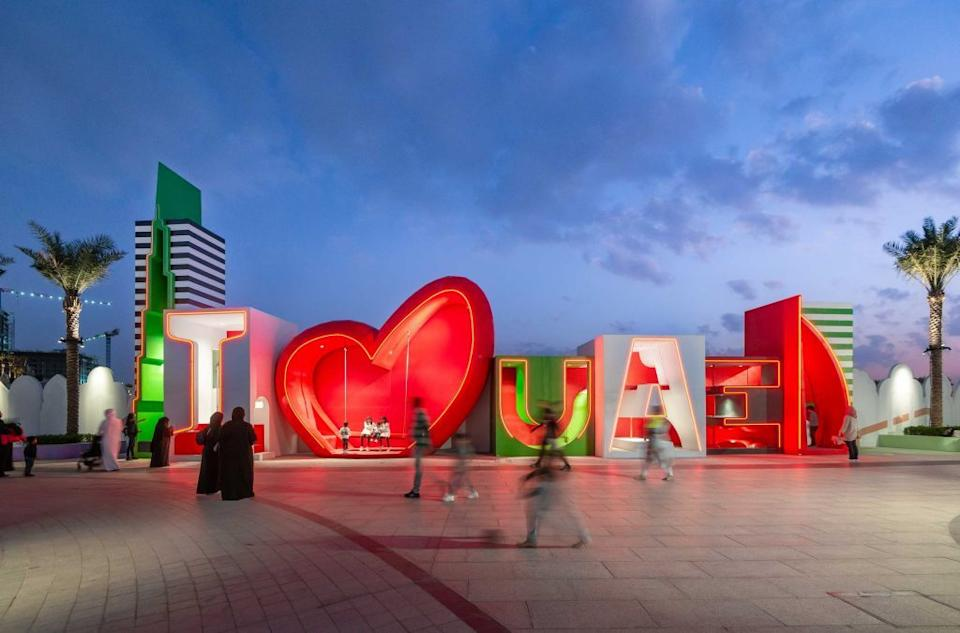 A vibrant art installation by 100 Architects.