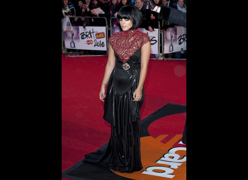 <strong>2010</strong> Lily at the BRIT Awards