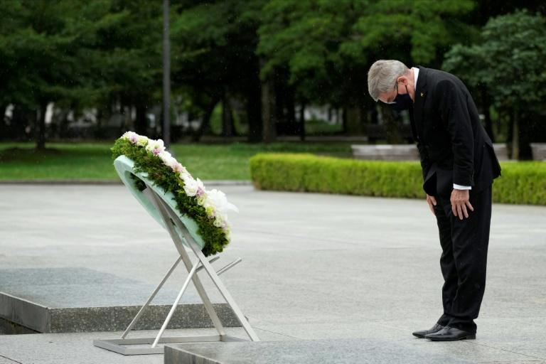 IOC chief Bach described himself as humbled by the visit to Hiroshima