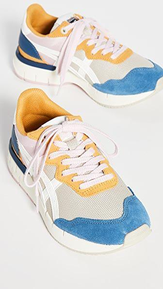 """<p><strong>Onitsuka Tiger</strong></p><p>shopbop.com</p><p><strong>$98.24</strong></p><p><a href=""""https://go.redirectingat.com?id=74968X1596630&url=https%3A%2F%2Fwww.shopbop.com%2Frebilac-runner-sneakers-onitsuka-tiger%2Fvp%2Fv%3D1%2F1518921433.htm&sref=https%3A%2F%2Fwww.cosmopolitan.com%2Fstyle-beauty%2Ffashion%2Fg35017315%2F2021-shoe-trends%2F"""" rel=""""nofollow noopener"""" target=""""_blank"""" data-ylk=""""slk:Shop Now"""" class=""""link rapid-noclick-resp"""">Shop Now</a></p><p>These colorblocked shoes will take you from your workout to lunch, all while looking stylish. </p>"""