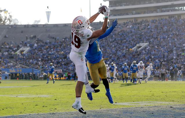 Stanford wide receiver JJ Arcega-Whiteside. (AP Photo)