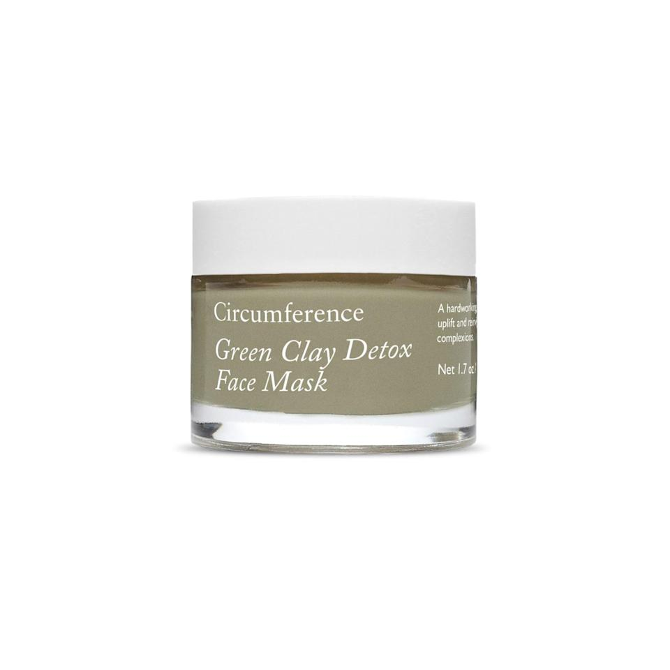 """<p>When your skin is having a Goldilocks dilemma of dry and also congested, this fancy face mask from sustainable green beauty brand Circumference is just right to help gently vacuum excess sebum and gunk from your pores without drying the hell out of your skin. It has a light, almost whipped-like texture and nourishes your skin with blackcurrant seed, evening primrose, and sacha inchi oils.</p> <p>$65 (<a rel=""""nofollow noopener"""" href=""""https://www.circumferencenyc.com/products/green-clay-detox-face-mask"""" target=""""_blank"""" data-ylk=""""slk:Shop Now"""" class=""""link rapid-noclick-resp"""">Shop Now</a>)</p>"""