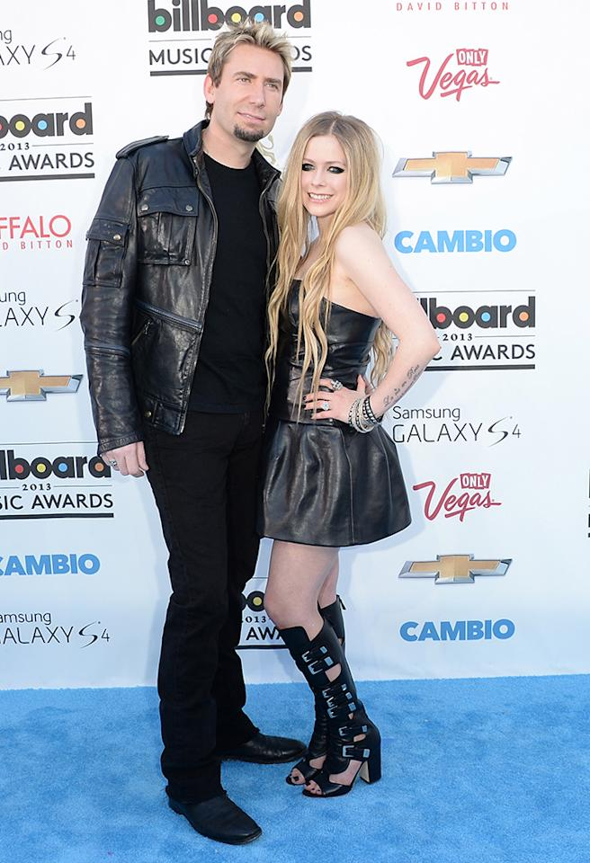 LAS VEGAS, NV - MAY 19:  Chad Kroeger of Nickleback and Avril Lavigne arrive at the 2013 Billboard Music Awards at the MGM Grand Garden Arena on May 19, 2013 in Las Vegas, Nevada.  (Photo by Jason Merritt/Getty Images)
