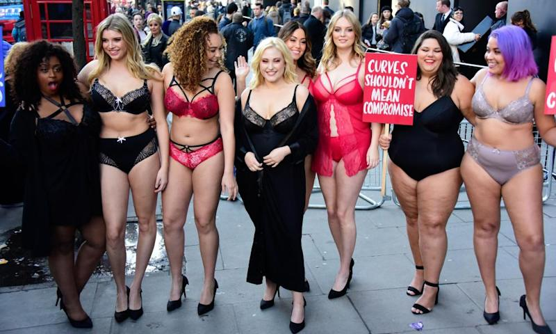 Simply Be models protest at London fashion week in February about the lack of diversity in the industry.
