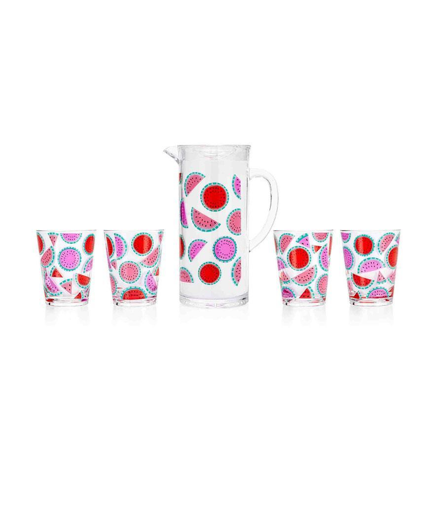 "<p>Watermelon Tumblr Set with Pitcher, $48, <a href=""https://www.draperjames.com/watermelon-tumbler-set-with-pitcher"" rel=""nofollow noopener"" target=""_blank"" data-ylk=""slk:draperjames.com"" class=""link rapid-noclick-resp"">draperjames.com</a> </p>"