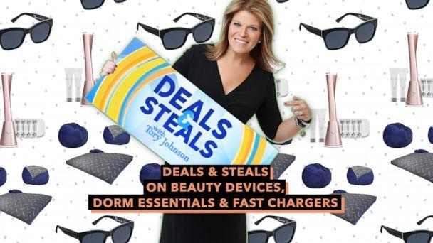 PHOTO: Deals & Steals on Beauty Devices, Dorm Essentials & Fast Chargers (ABC News Photo Illustration, CordaRoys, Dermaflash, Peepers)