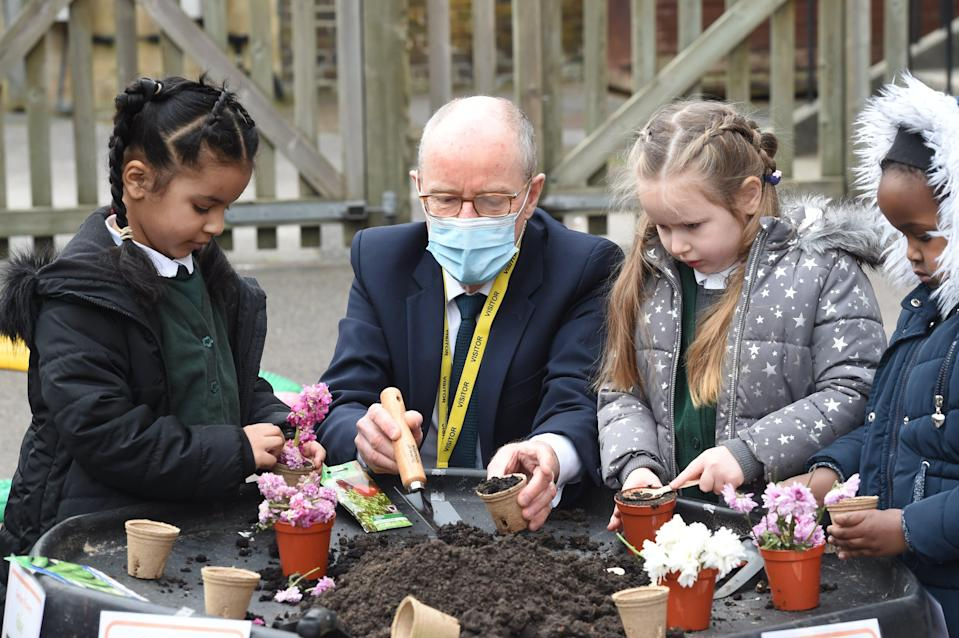 <p>Schools Minister Nick Gibb at Goldfinch School today in Streatham </p> (Jeremy Selwyn)