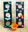 """<p>For some spooky outdoor fun, play this bean bag toss with an extra festive Halloween twist. Don't forget the <em>spook</em>-tacular pumpkin and ghost-shaped bean bags!<br></p><p><em><a href=""""https://akailochiclife.com/2015/10/diy-it-halloween-bean-bag-toss.html"""" rel=""""nofollow noopener"""" target=""""_blank"""" data-ylk=""""slk:Get the tutorial at A Kailo Chic Life »"""" class=""""link rapid-noclick-resp"""">Get the tutorial at A Kailo Chic Life »</a></em></p>"""