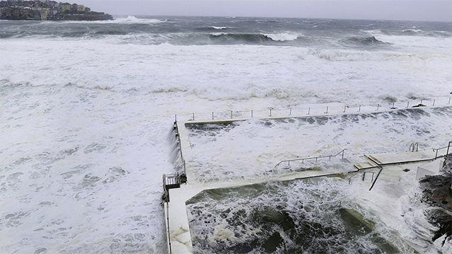 A king tide combined with an intense weather system made the storm particularly dangerous on the New South Wales coast line. Photo: Getty