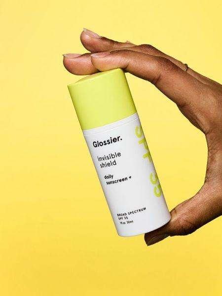 """<p>Broad-spectrum sunscreen should be part of every skin care routine, and in its quest to leave no beauty stone unturned, of course, Glossier launched its own version. This simple broad-spectrum SPF 35 sunscreen is a great (not to mention must-have) final step in any regimen.<br /><strong><a rel=""""nofollow"""" href=""""https://fave.co/2OyvTNr"""">Shop it</a>:</strong> $35, <a rel=""""nofollow"""" href=""""https://fave.co/2OyvTNr"""">glossier.com</a> </p>"""