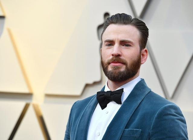 Chris Evans is not a fan of President Donald Trump. (Photo by Jordan Strauss/Invision/AP)