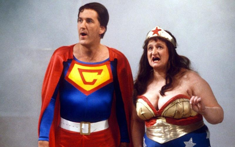 Russ Abbot and Bella Emberg in Russ Abbot's Madhouse, 1985 - REX/Shutterstock