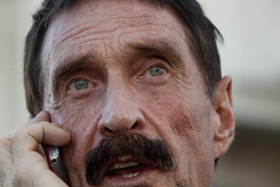 Soon after unveiling a crypto exchange, John McAfee revealed he's launching a website dedicated to exposing corruption in the U.S. government. | AP Photo/Moises Castillo