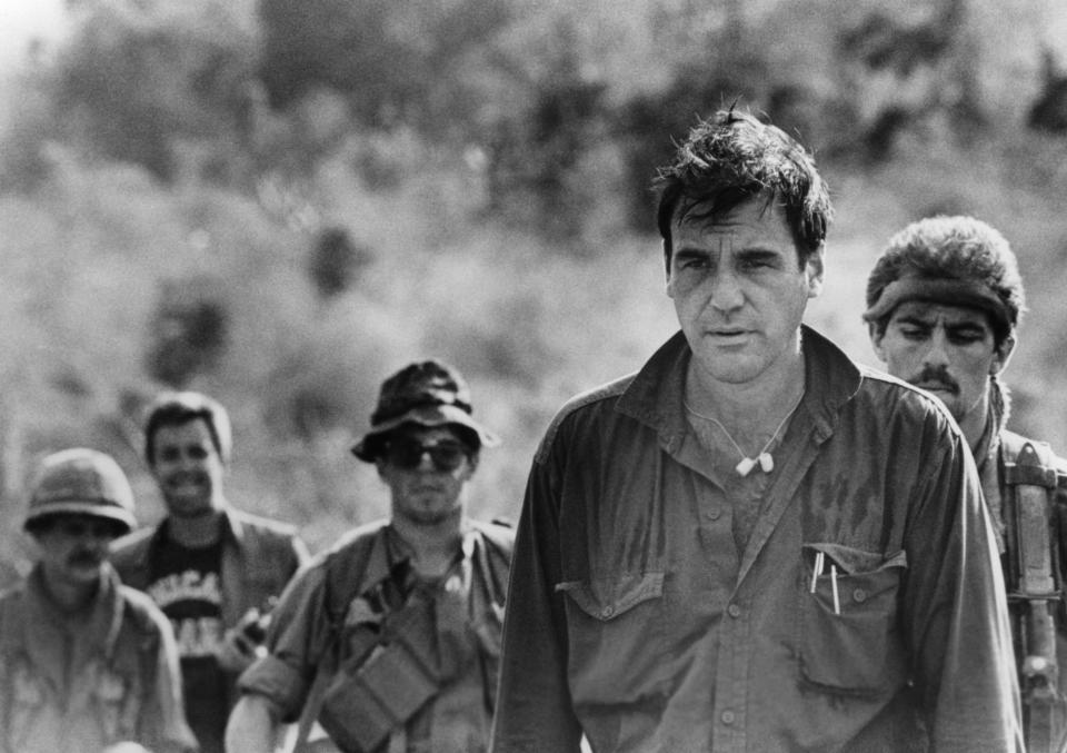 PLATOON, Director Oliver Stone on location, 1986, (c) Orion Pictures/ Courtesy: Everett Collection