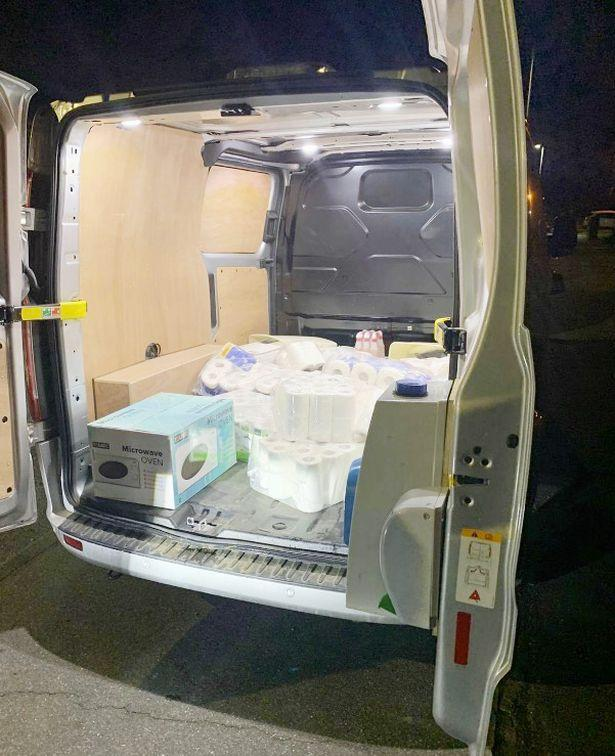 The van was stopped following a tip-off (Picture: Essex Police)