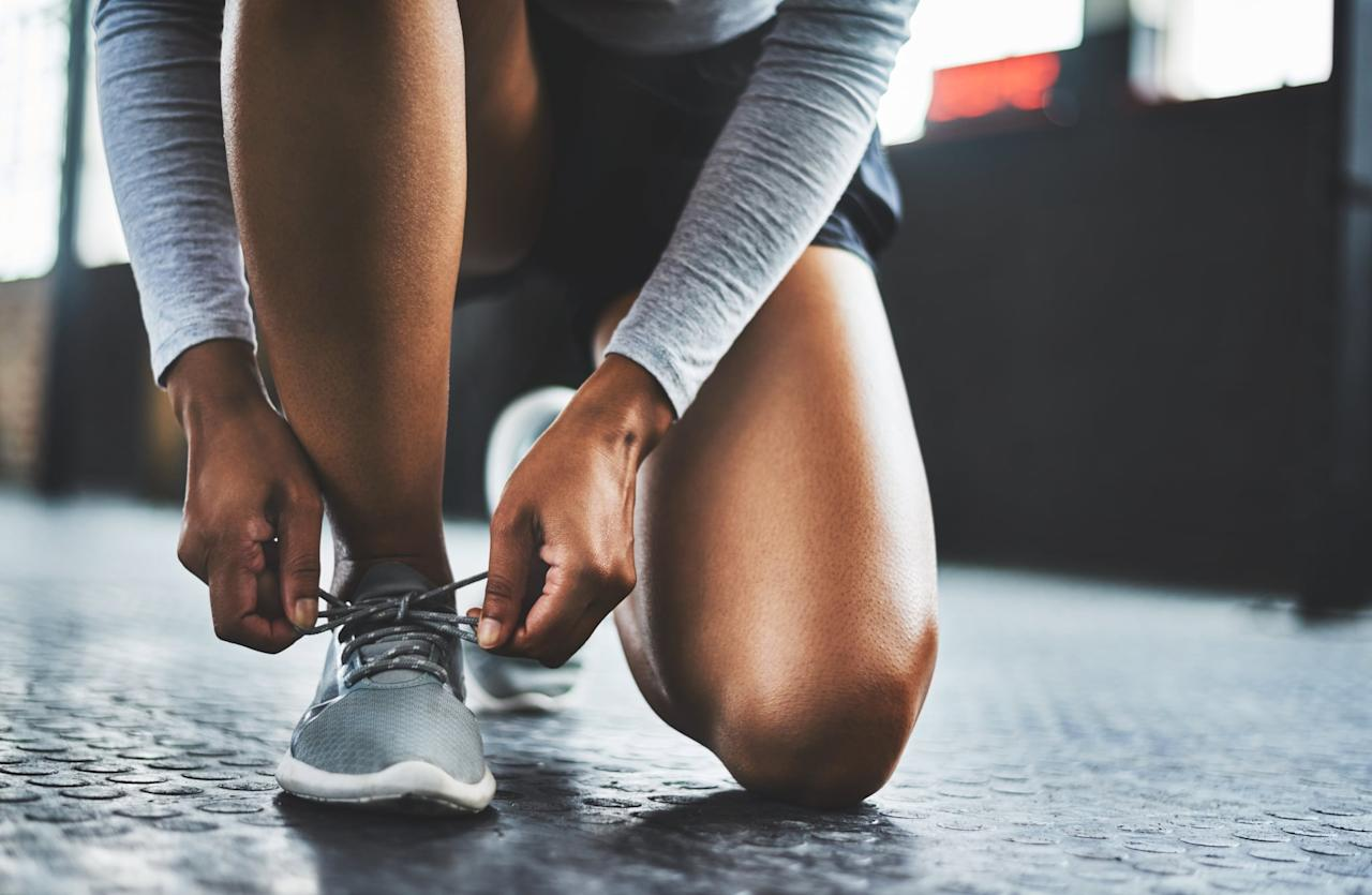 """<p>Try adding in some cardio to this week's plan, getting outside for a 20-minute walk, jog, or run before or after each circuit for an extra calorie burn.</p> <h2>Monday: Strength Endurance Circuit</h2> <p>After completing one set of each exercise, rest for 90 seconds, then repeat twice more.</p> <ul> <li> <strong><a href=""""https://www.popsugar.com/fitness/How-Do-Squats-8876316"""" class=""""ga-track"""" data-ga-category=""""Related"""" data-ga-label=""""https://www.popsugar.com/fitness/How-Do-Squats-8876316"""" data-ga-action=""""In-Line Links"""">Squats</a>:</strong> Do three sets of 15 to 20 reps.</li> <li> <strong><a href=""""https://www.popsugar.com/fitness/How-Do-Lunge-22901753"""" class=""""ga-track"""" data-ga-category=""""Related"""" data-ga-label=""""https://www.popsugar.com/fitness/How-Do-Lunge-22901753"""" data-ga-action=""""In-Line Links"""">Lunges</a>:</strong> Do three sets of 9 per side.</li> <li> <strong><a href=""""https://www.popsugar.com/fitness/What-Best-Bodyweight-Exercises-44689627"""" class=""""ga-track"""" data-ga-category=""""Related"""" data-ga-label=""""https://www.popsugar.com/fitness/What-Best-Bodyweight-Exercises-44689627"""" data-ga-action=""""In-Line Links"""">Single-leg squat</a>:</strong> Do three sets of 10 to 12 reps.</li> <li> <strong><a href=""""https://www.popsugar.com/fitness/Exercises-People-Bad-Backs-44739309"""" class=""""ga-track"""" data-ga-category=""""Related"""" data-ga-label=""""https://www.popsugar.com/fitness/Exercises-People-Bad-Backs-44739309"""" data-ga-action=""""In-Line Links"""">Glute bridge</a>:</strong> Do three sets of 12 to 15 reps.</li> <li> <strong><a href=""""https://www.popsugar.com/fitness/How-Do-Bird-Dog-Exercise-Your-Back-40441615"""" class=""""ga-track"""" data-ga-category=""""Related"""" data-ga-label=""""https://www.popsugar.com/fitness/How-Do-Bird-Dog-Exercise-Your-Back-40441615"""" data-ga-action=""""In-Line Links"""">Bird dog</a>:</strong> Do three sets of 10 to 12 reps per side.</li> <li> <strong><a href=""""https://www.popsugar.com/fitness/15-Minute-HIIT-Workout-Home-46276378"""" class=""""ga-track"""" data-ga-category=""""Related"""" data-ga-label=""""ht"""
