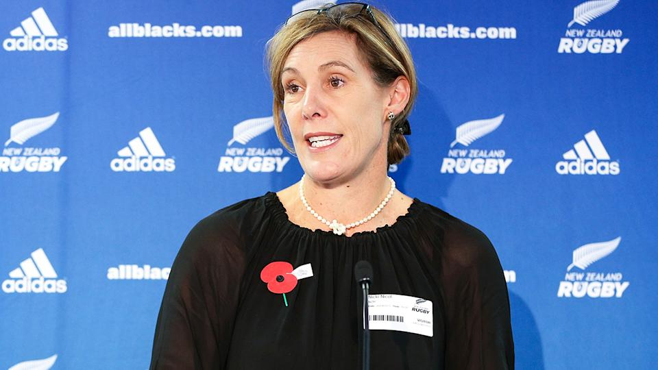 New Zealand Rugby's Nicki Nicol says they will take World Rugby's report into account when formulating their own policy for transgender athletes.  (Photo by All Blacks Collection/Getty Images)