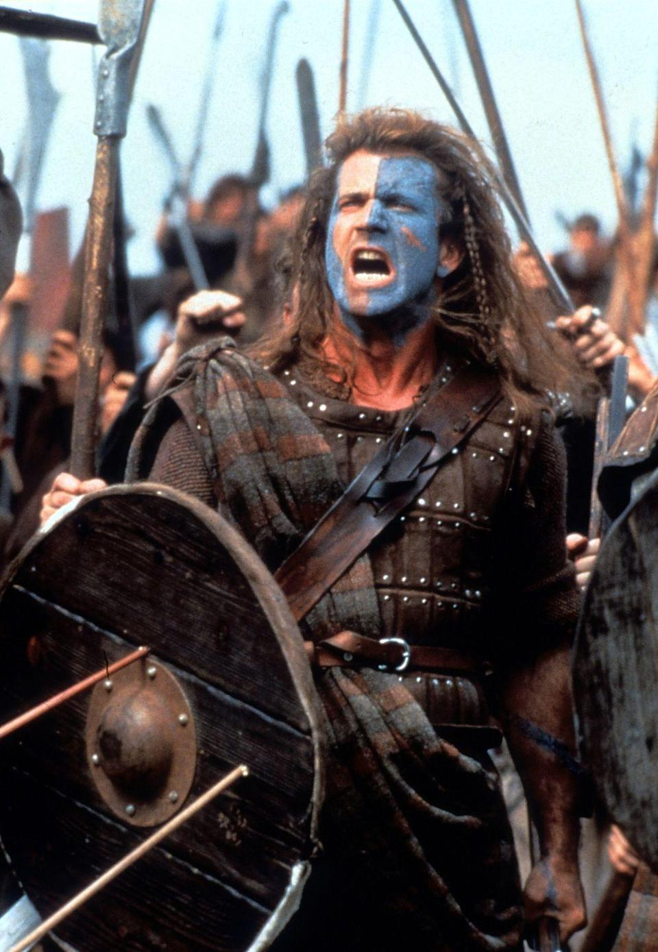 <p>Not many people missed Mel Gibson's <em>Braveheart </em>in 1995, a period piece that followed the war story of Scotland's William Wallace as he stands up to King Edward I in the First War of Scottish Independence. The film won five Academy Awards, including Best Director for Gibson's directorial debut. </p>