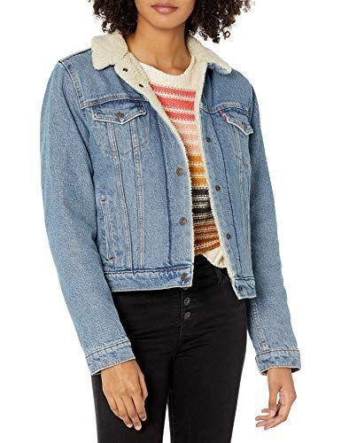 """<p><strong>Levi's</strong></p><p>amazon.com</p><p><strong>$68.60</strong></p><p><a href=""""https://www.amazon.com/dp/B072DVVMT5?tag=syn-yahoo-20&ascsubtag=%5Bartid%7C2141.g.37148346%5Bsrc%7Cyahoo-us"""" rel=""""nofollow noopener"""" target=""""_blank"""" data-ylk=""""slk:Shop Now"""" class=""""link rapid-noclick-resp"""">Shop Now</a></p><p>If you're not too keen on wearing extra layers in <a href=""""https://www.prevention.com/beauty/style/g29473259/best-winter-coats/"""" rel=""""nofollow noopener"""" target=""""_blank"""" data-ylk=""""slk:colder temperatures"""" class=""""link rapid-noclick-resp"""">colder temperatures</a>, this Levi's Sherpa Trucker jean jacket is <strong>built to provide you with extra warmth</strong>. This versatile jacket combines the cool and the cozy, all while keeping you comfortable. Take your pick from five different colors, including light wash, divided blue, and black. </p>"""