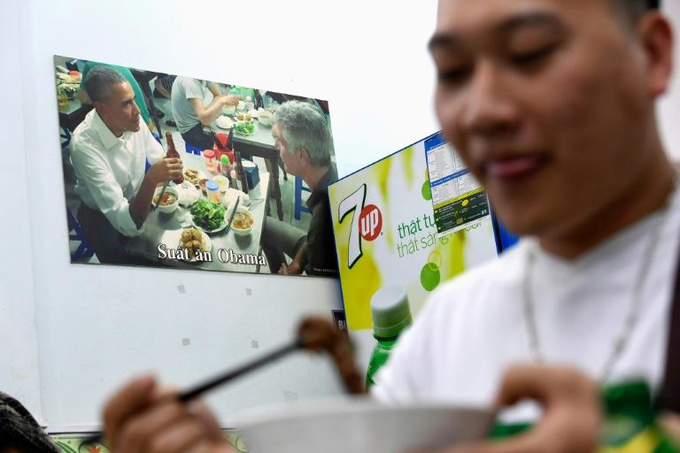 Bun Cha Huong Lien restaurant shot to stardom in 2016 when Obama took a break from official duties on a visit to Hanoi to enjoy a $3 bowl of pork noodles and fried spring rolls with globetrotting chef Anthony Bourdain