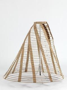 Hooped crinoline cage for under a skirt.