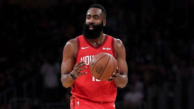 James Harden posted 31 points, 10 assists and eight rebounds in the Houston Rockets' 121-105 win over the Atlanta Hawks on Tuesday.