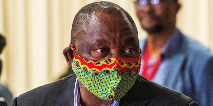 South African President Cyril Ramaphosa.