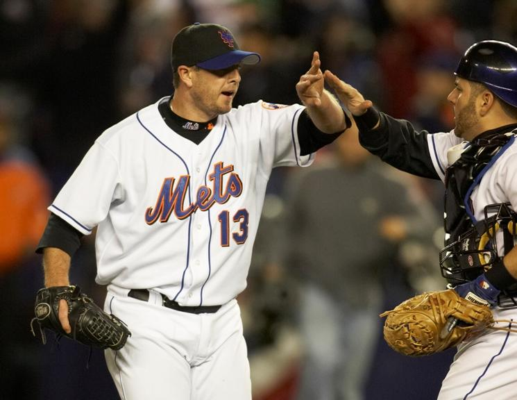 Billy Wagner celebrates after Game 1 of the 2006 NLCS
