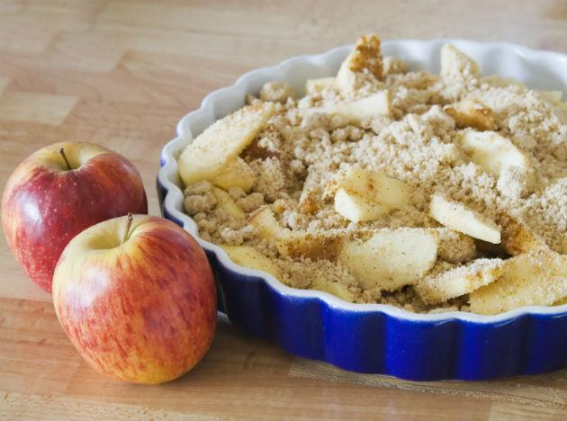 <b>Apple Crumble</b> With all this food being discussed, can desserts be left far behind? A healthy and very wintry one is apple crumble. The best part is you can make it totally fat-free. Warm, delicious and nutritious, this is certainly one hot favourite for the season. Who says you cannot stay away from no-vegetarian fare. With such scrumptious dishes around, who needs meat as a must-have on the platter? Happy eating!