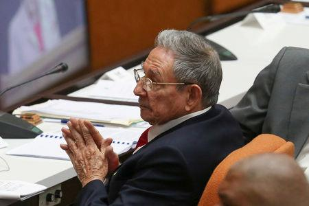 Cuba's President Raul Castro takes part in a session of the National Assembly in Havana Cuba