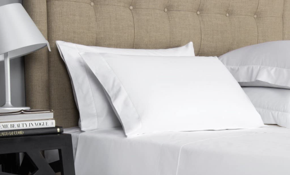 These 100 percent Egyptian cotton sheets are waiting for you. (Photo: Amazon)