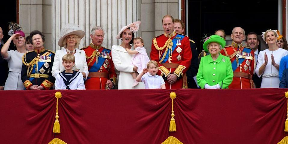 """<p><a href=""""https://www.delish.com/just-for-fun/a35439974/queen-elizabeth-69-years-on-the-throne-anniversary/"""" rel=""""nofollow noopener"""" target=""""_blank"""" data-ylk=""""slk:Queen Elizabeth II"""" class=""""link rapid-noclick-resp"""">Queen Elizabeth II</a> is the longest reigning monarch in British history, and she has seen. some. things. Like, so many things that <a href=""""https://www.cosmopolitan.com/entertainment/tv/a29834812/the-crown-season-4-news-cast-spoilers-date/"""" rel=""""nofollow noopener"""" target=""""_blank"""" data-ylk=""""slk:The Crown"""" class=""""link rapid-noclick-resp""""><em>The Crown</em></a> had to add on an entire extra season just to cover all the drama. And while we're all pretty familiar with Her Majesty's direct heirs to the <a href=""""https://www.biography.com/people/queen-elizabeth-ii-9286165"""" rel=""""nofollow noopener"""" target=""""_blank"""" data-ylk=""""slk:British throne"""" class=""""link rapid-noclick-resp"""">British throne</a> (hi, Prince Charles, <a href=""""https://www.delish.com/food-news/a35631308/prince-william-kate-middleton-appalled-prince-harry-markle-tell-all-interview/"""" rel=""""nofollow noopener"""" target=""""_blank"""" data-ylk=""""slk:Prince William"""" class=""""link rapid-noclick-resp"""">Prince William</a>, and Prince George), the royal line of succession stretches back at least 26 people deep. And yes, <a href=""""https://www.cosmopolitan.com/entertainment/celebs/a19889118/princess-charlotte-line-of-succession-baby-brother/"""" rel=""""nofollow noopener"""" target=""""_blank"""" data-ylk=""""slk:Princess Charlotte"""" class=""""link rapid-noclick-resp"""">Princess Charlotte</a> is high up on the list thanks to <a href=""""http://www.bbc.com/news/uk-32073399"""" rel=""""nofollow noopener"""" target=""""_blank"""" data-ylk=""""slk:a shake-up in 2013"""" class=""""link rapid-noclick-resp"""">a shake-up in 2013</a> that got rid of male primogeniture—a rule that stated male heirs took precedence over their female siblings, even if they were not born first. But keep in mind that any royal children born before 2013 are fresh out of luck (like Princess Anne and her famil"""