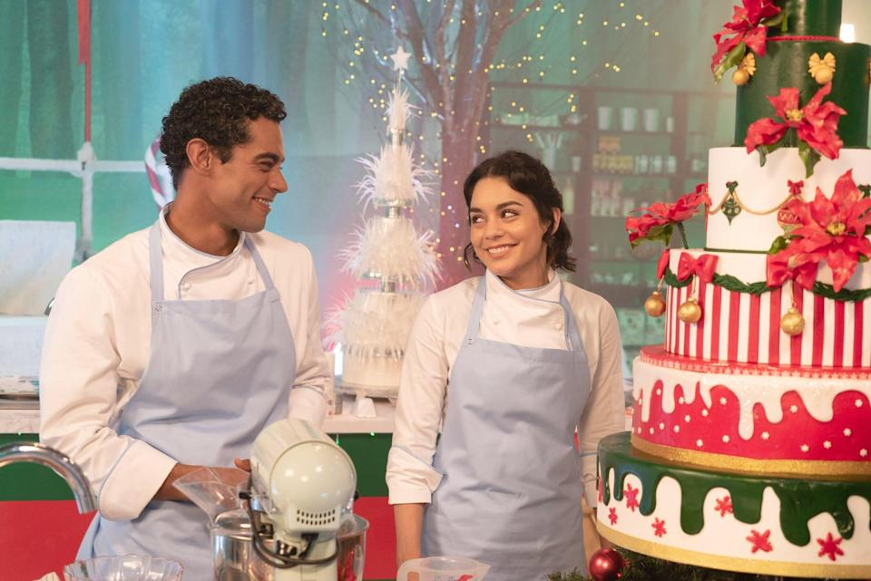 """<p><a class=""""link rapid-noclick-resp"""" href=""""https://www.popsugar.com/Vanessa-Hudgens"""" rel=""""nofollow noopener"""" target=""""_blank"""" data-ylk=""""slk:Vanessa Hudgens"""">Vanessa Hudgens</a> stars in this film about a Chicago baker and a duchess who decide to trade places to get a taste of each other's lives.</p> <p>Watch <a href=""""https://www.netflix.com/title/80242926"""" class=""""link rapid-noclick-resp"""" rel=""""nofollow noopener"""" target=""""_blank"""" data-ylk=""""slk:The Princess Switch""""><strong>The Princess Switch</strong> </a> on Netflix now.</p>"""