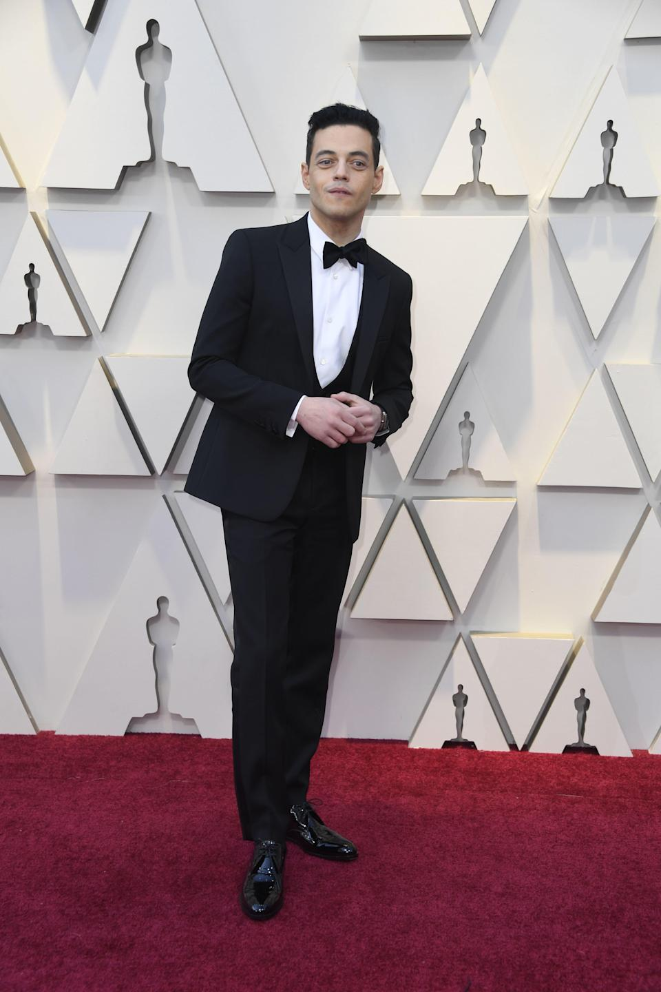 Rami Malek in Saint Laurent by Anthony Vaccarello