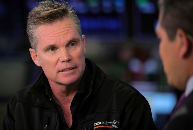 Peter Adderton, founder of Boost Mobile, speaks during an interview with CNBC on the floor at the NYSE in New York