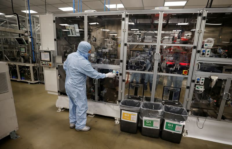 FILE PHOTO: Envision battery manufacturing plant at Nissan's Sunderland factory