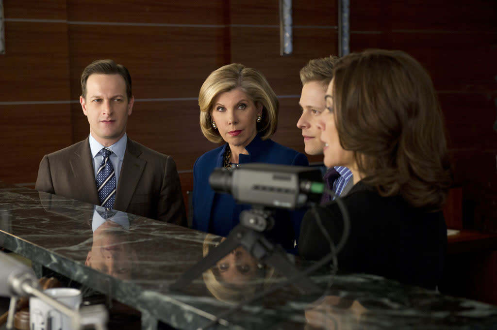 """Red Team/Blue Team"" -- Things get tense when Will (Josh Charles) and Diane (Christine Baranski) face off against Cary (Matt Czuchry) and Alicia (Julianna Margulies) after a client asks the firm to go through a mock trial to test their case, on ""The Good Wife."""