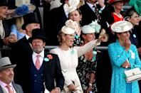 <p>Zara Tindall, Dolly Maude, and Anna Lisa Balding watched the King's Stand Stakes.<br><br></p>