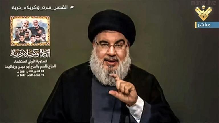 """Hassan Nasrallah, the head of Iran-backed Lebanese movement Hezbollah, said on Hezbollah's al-Manar TV that Soleimani's death had been a """"huge blow"""" but that the departure of US troops from the region remained a """"declared goal"""""""