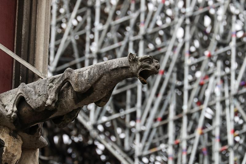 The company involved in renovating Notre-Dame before last week's fire had imposed a strict ban on smoking while up the scaffolding, which some workers ignored (AFP Photo/KENZO TRIBOUILLARD)