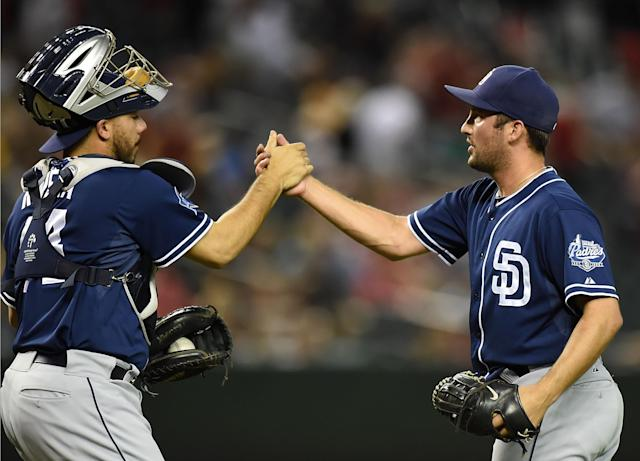Angels acquire closer Huston Street in six-player deal with Padres