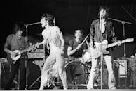 <p>The Rolling Stones perform at Oakland Stadium in Oakland, California - July 26, 1978.</p>