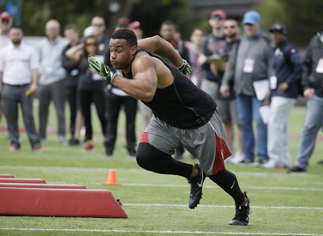 Stanford's Solomon Thomas is a dominant defender with upside, but his position must be identified. (AP)