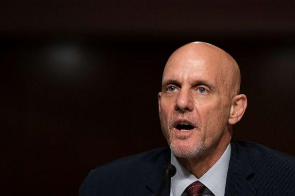 PHOTO: U.S. Food and Drug Administration Commissioner Stephen Hahn testifies at a hearing of the Senate Health, Education, Labor and Pensions Committee on Sept. 23, 2020, in Washington. (Pool/Getty Images)