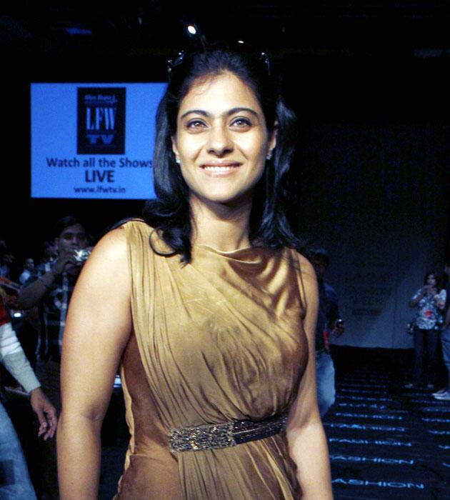 Kajol looked slim and trim when we spotted her during the ongoing Lakme Fashion week in Mumbai.