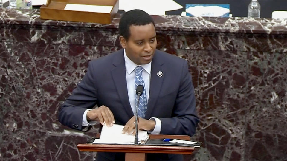 Rep. Joe Neguse. (via Reuters Video)